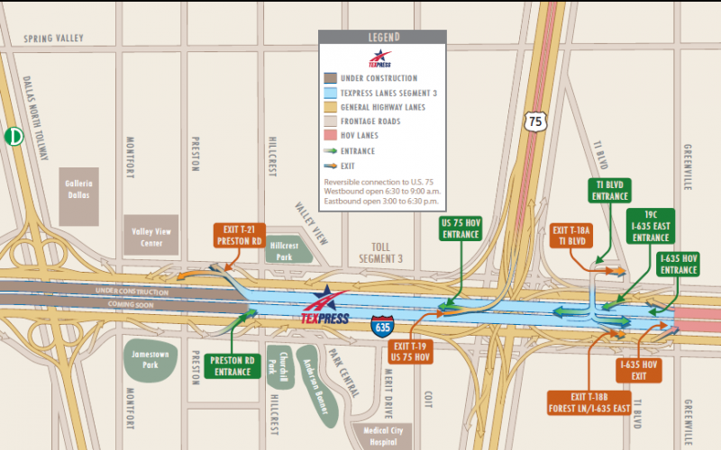 Phase 1 of the TEXpress on LBJ Freeway opens Saturday.