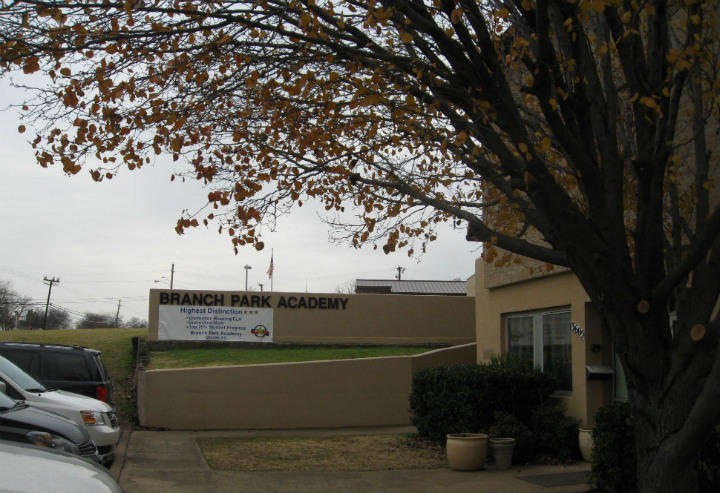 Honors Academy's Park Branch middle school in Farmers Branch, near the chain's headquarters. The school's next to the Farmers Branch Library.
