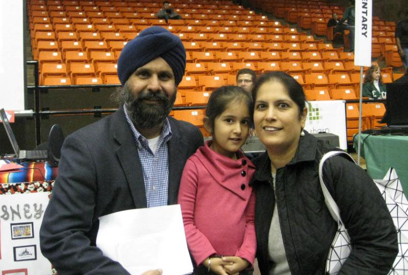 The Singhs visited Fort Worth's school choice expo in search of the right school for their 4- year-old daughter.