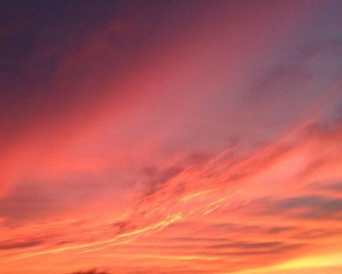 A view of Thursday's amazing sunset.