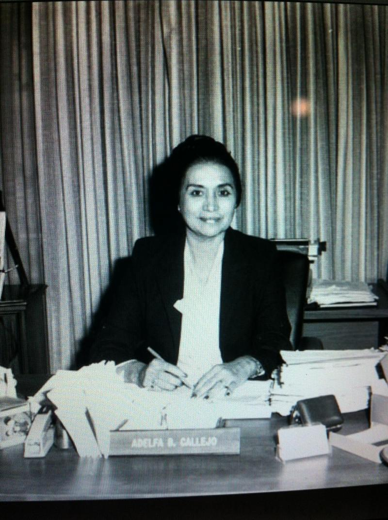 Adelfa Callejo became the first Hispanic woman to graduate from SMU Law School in 1961.