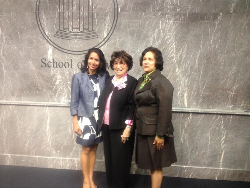 Adelfa Callejo was a mentor to many women, including attoreny Liz Cedillo-Pereira (left). Here she's at SMU after being named a Texas Legal Legend by the State Bar of Texas in 2012.