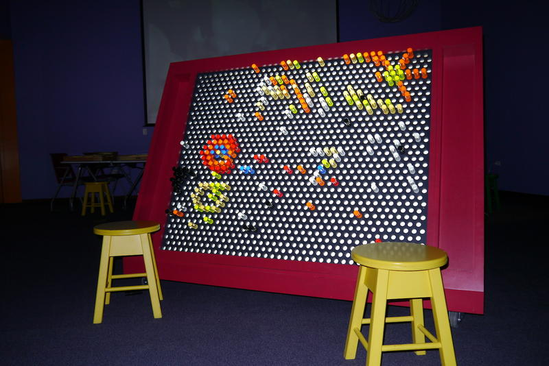 A giant Brite Lite is part of the new learning center at the Fort Worth Museum of Science and History.