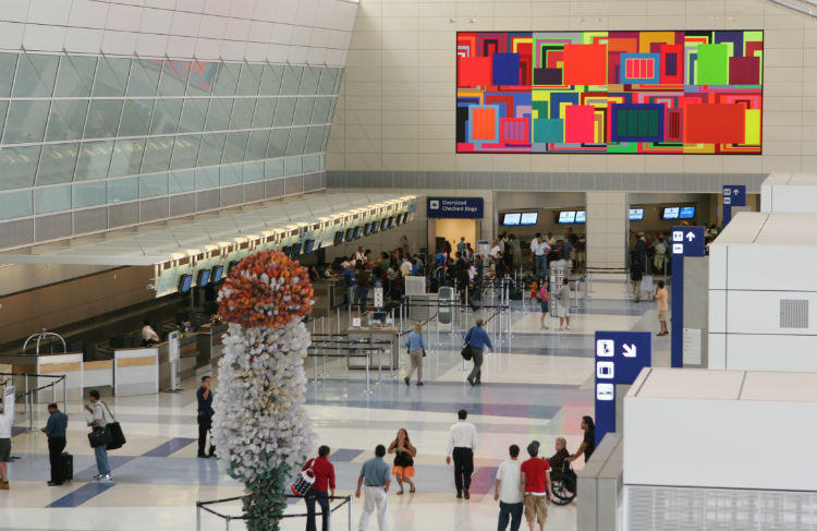 Terminal D of DFW International Airport opened in 2005.