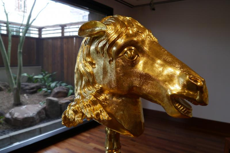 An original Zodiac horse head by Chinese artist Ai Weiwei at the Crow Collection of Asian Art.