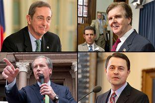 GOP Lt. Governor candidates (clockwise from top left): Jerry Patterson; Dan Patrick; Todd Staples; David Dewhurst.