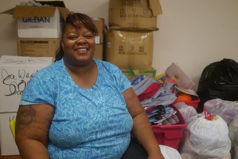 Lois Tyson is a resident of Austin Street Center. She also volunteers to help others.