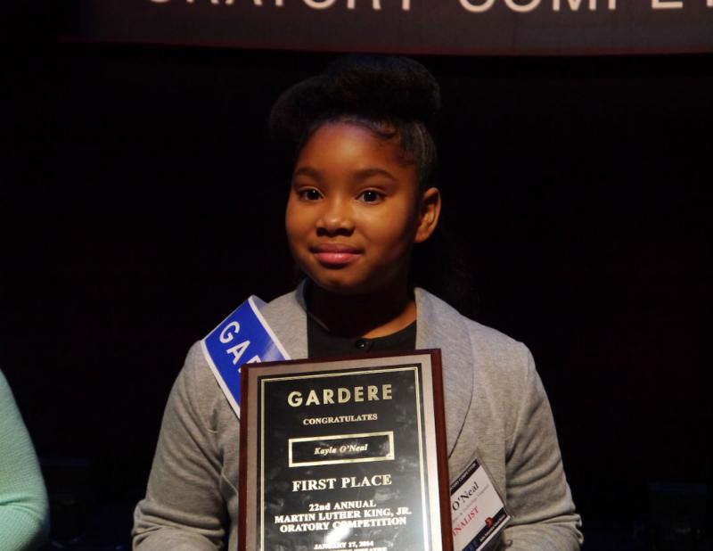 The winner, Kayla O'Neal, is a fourth grader at J.P. Starks Math, Science & Technology Vanguard Elementary School.