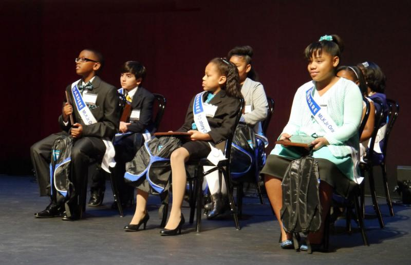 Eight Dallas ISD students addressed a crowd at the Majestic Theater in downtown Dallas.