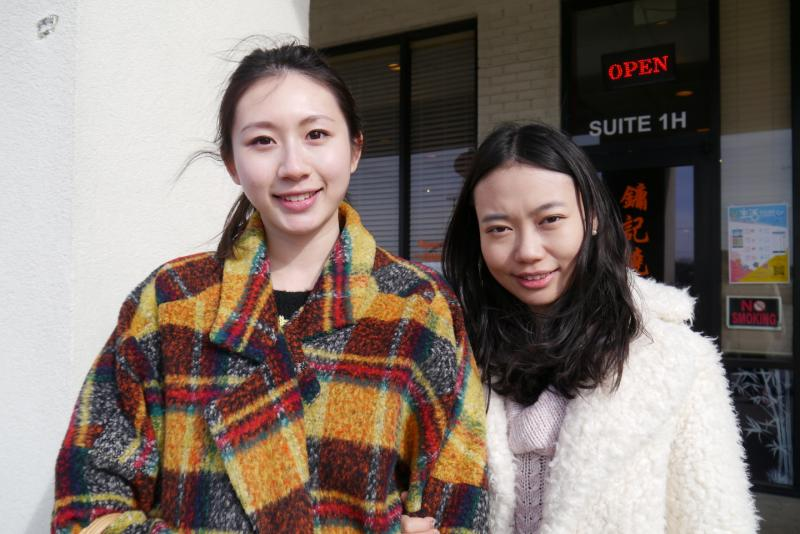 Chinese graduate students Angela Wang and Nancy Li plan to celebrate Chinese New Year with traditional rice balls with sesame seeds.