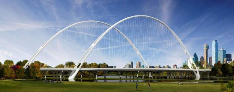 A rendering of the new Margaret McDermott Bridge over the Trinity River.
