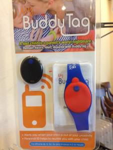 BuddyTag is a child safety device that helps parents track their children.