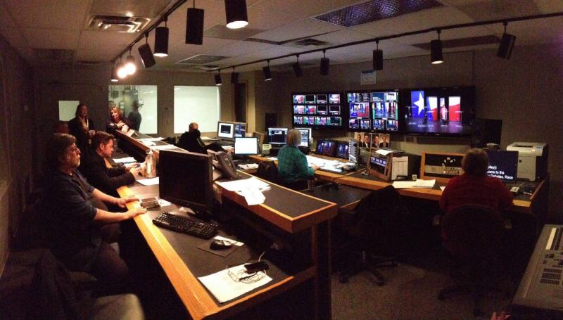 A look inside the control room before the debate.