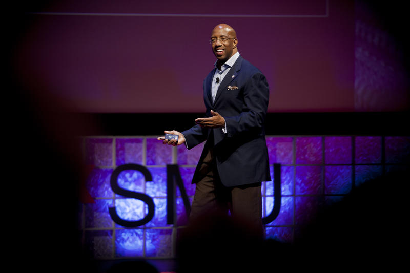 Michael Sorrell talks about the new urban college model at TEDxSMU in October. He leads Paul Quinn College, which has new energy under his tenure - and the most single-donor donations ever under his tenure.