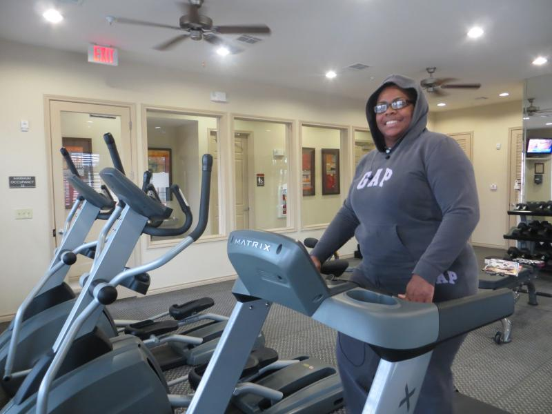Chimerle Thompson moved to North Court Villas from Arkansas because she likes the opportunities in the upscale community.