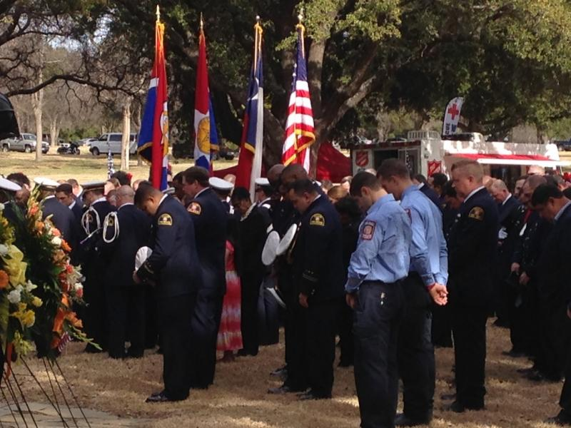 Hundreds of people attended the services for Dallas firefighter William Scott Tanksley.