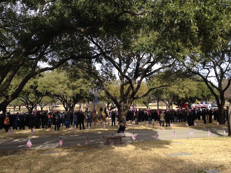 Dallas firefighter William Scott Tanksley was buried at Restland Funeral Home in Dallas.