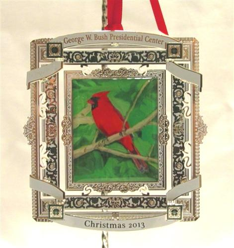 Former President George W. Bush painted this Christmas ornament, which is available for sale.
