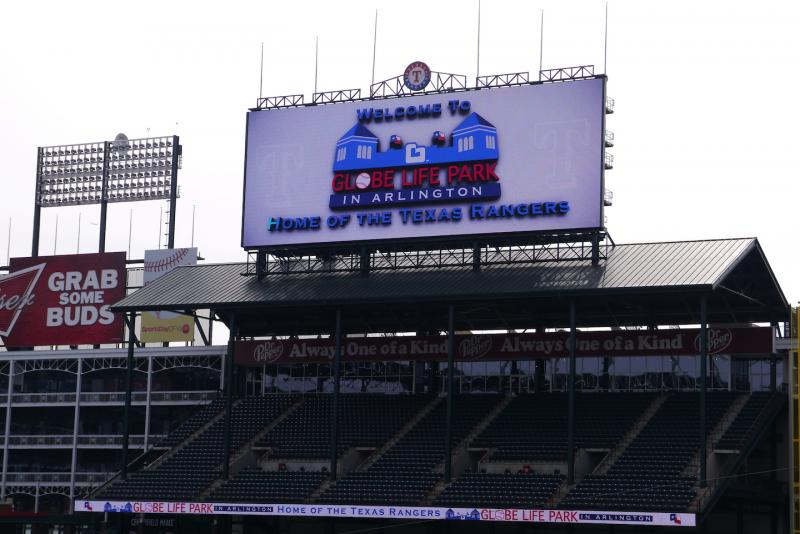 The ballpark has a new name: Globe Life Park in Arlington.