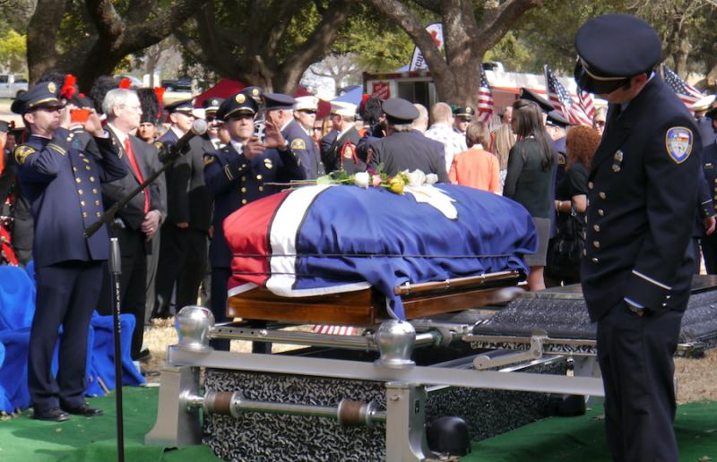 Funeral services were held today for fallen firefighter William Scott Tanksley.