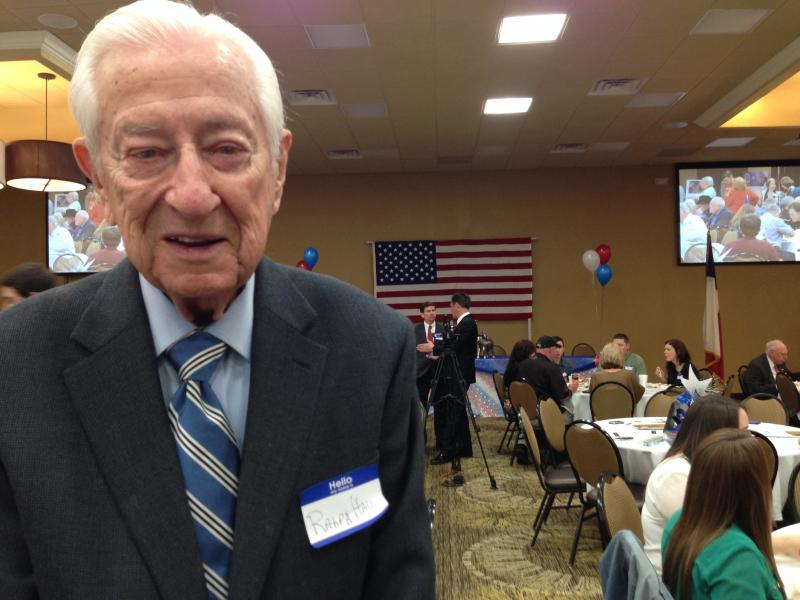 Congressman Ralph Hall says he feels fine at age 90 to run for an 18th term.