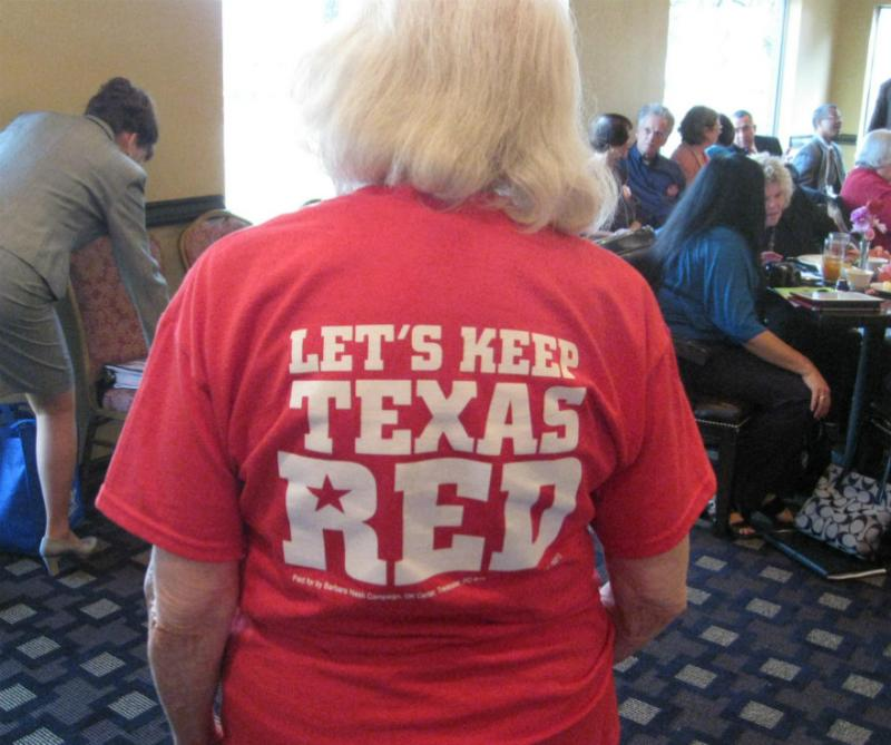 This Arlington Republican woman was proud to show her colors.