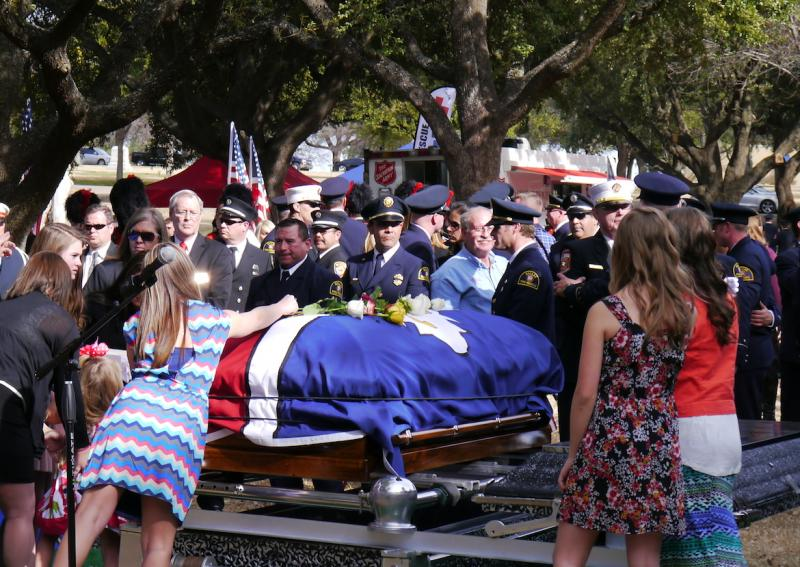 Family and friends say goodbye to Dallas firefighter William Scott Tanksley.