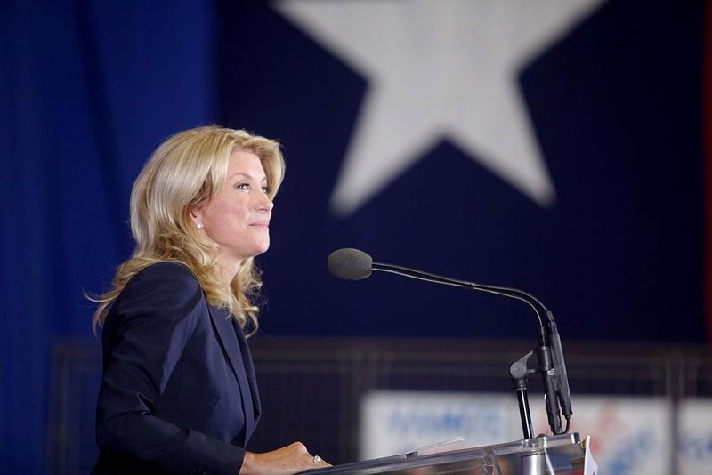 State senator Wendy Davis announcing her campaign for Texas governor in Halthom City on Oct. 3, 2013.