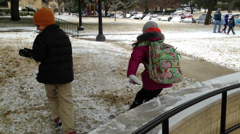 Another snowy day in North Texas. In Denton, bad winter weather forced five closed days. The superintendent may ask for waivers from the state-required 180 school days, but the TEA won's take such requests until March.