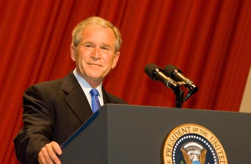 President George W. Bush will discuss how to support military veterans and their families today at the Bush Institute.