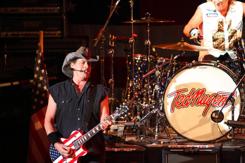 Rock musician Ted Nugent is scheduled to make two appearances with Greg Abbott, who's running for governor.