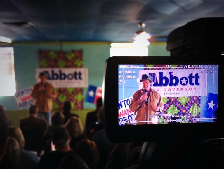 Ted Nugent appeared with Greg Abbott in Denton Tuesday morning.