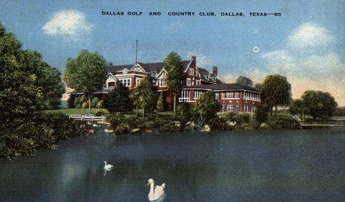 A vintage postcard of the Dallas Country Club. The club was established in 1896.