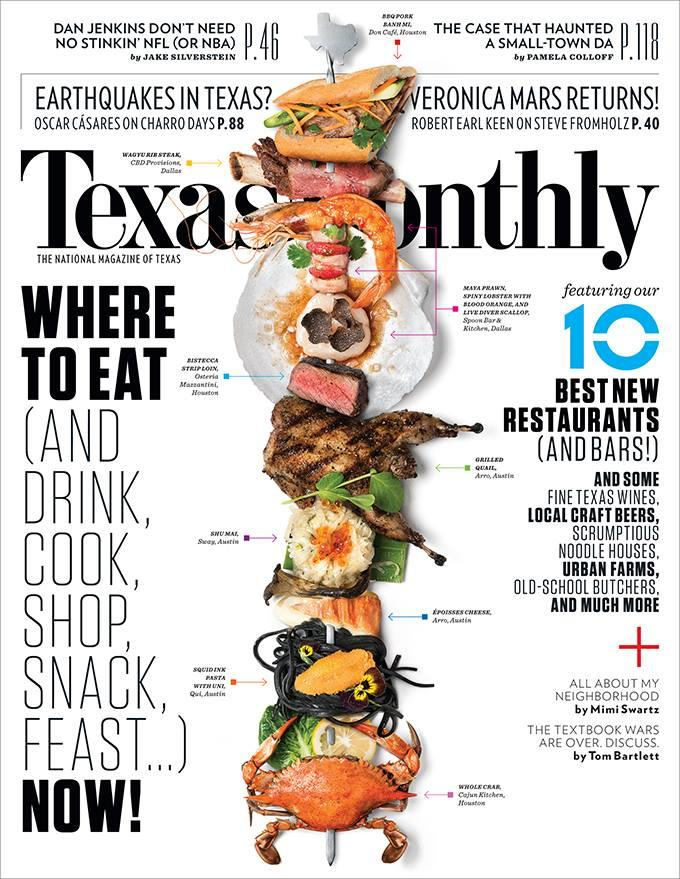 The latest cover of Texas Monthly shows off the state's best new restaurants, including a few in North Texas.