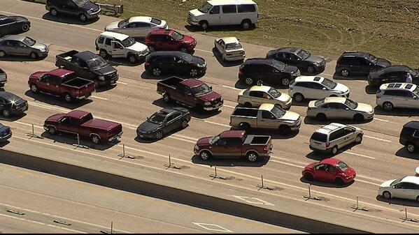 A Dallas police officer directed some motorists off LBJ Freeway Tuesday, which may explain why some motorists drove in the wrong direction.