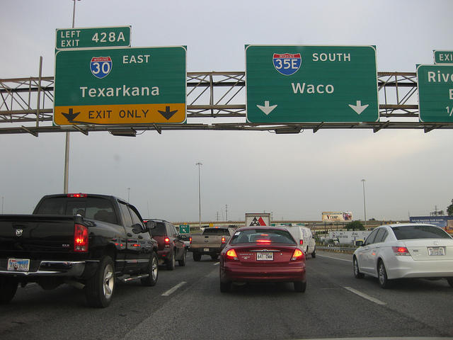 Guess where the worst traffic spots are in dallas kera news for How far is waco texas from houston texas