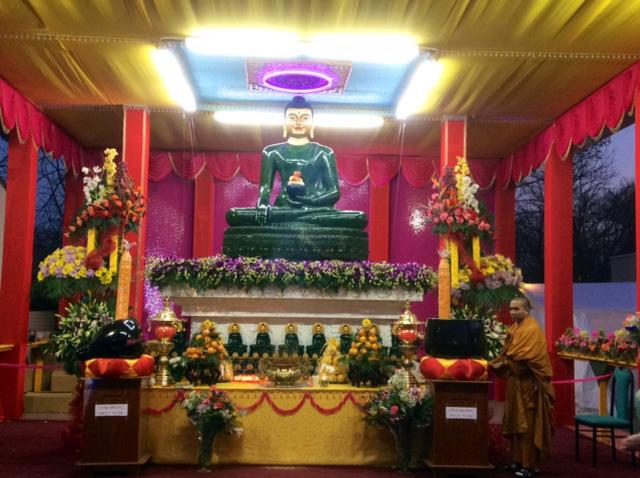 The Jade Buddha for Universal Peace is on display at the Tinh Xa Ngoc Nhien temple in Garland.
