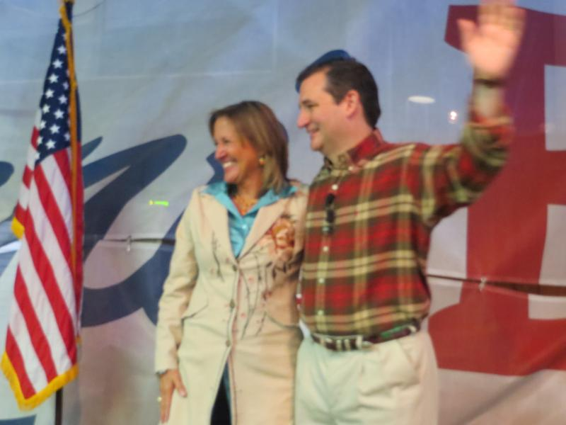 U.S. Sen. Ted Cruz campaigns for Konni Burton, a GOP candidate for the Texas Senate District 10 seat in Tarrant County.