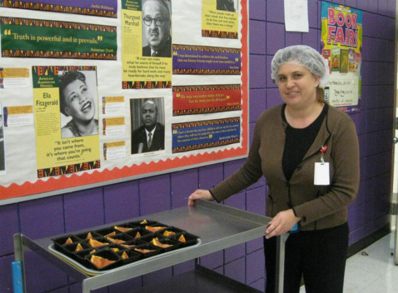 Jennifer DeHoog is the Dallas school nutritionist overseeing the Tasty Teasers launch at Bowie Elementary. Every month, kids will sample a different Texas fruit or vegetable