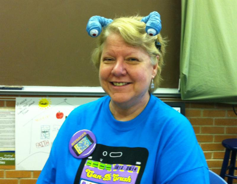 Janet Compton's been involved with Destination Imagination for twenty years. Her sons, daughter and husband are also involved.  Daughter Heather did so well, she got a scholarship to UTD based on accomplishments with the organization.