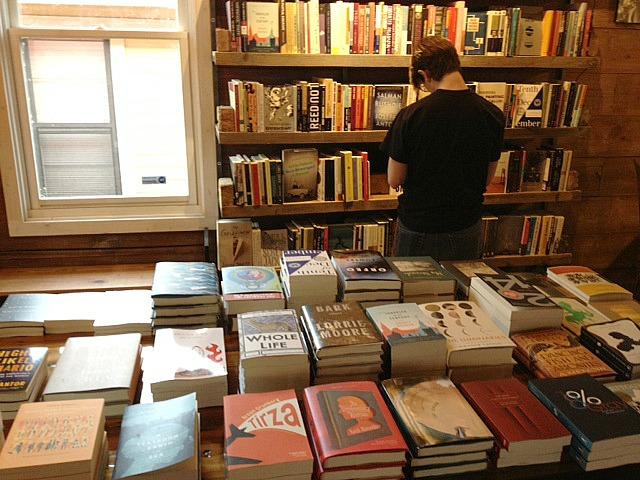 Books for sale on display at the Wild Detectives bookstore, an independent bookseller that just opened in Oak Cliff.