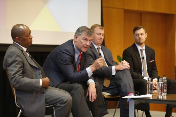 Dallas Mayor Mike Rawlings, leaning forward at last fall's Texas Tribune Festival, told KERA on Tuesday that Toyota moved to Plano partly because of the state of Dallas ISD.