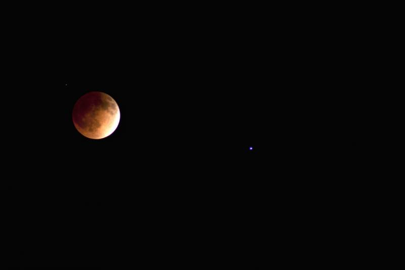A look at Tuesday morning's blood moon over Los Angeles.