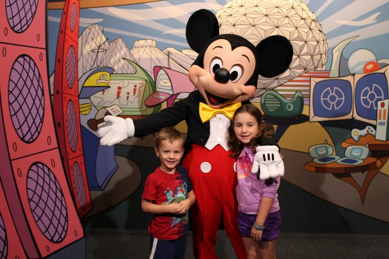 A visit to Disney World isn't a visit to Disney World without some quality time with Mickey Mouse.