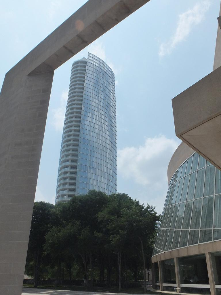 Glare from the Museum Tower has damaged parts of the Nasher Sculpture Center.