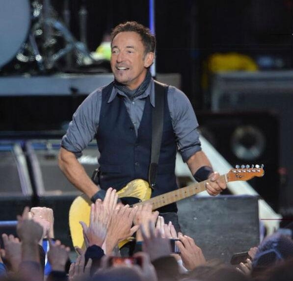 Bruce Springsteen performed a free concert Sunday night in downtown Dallas.