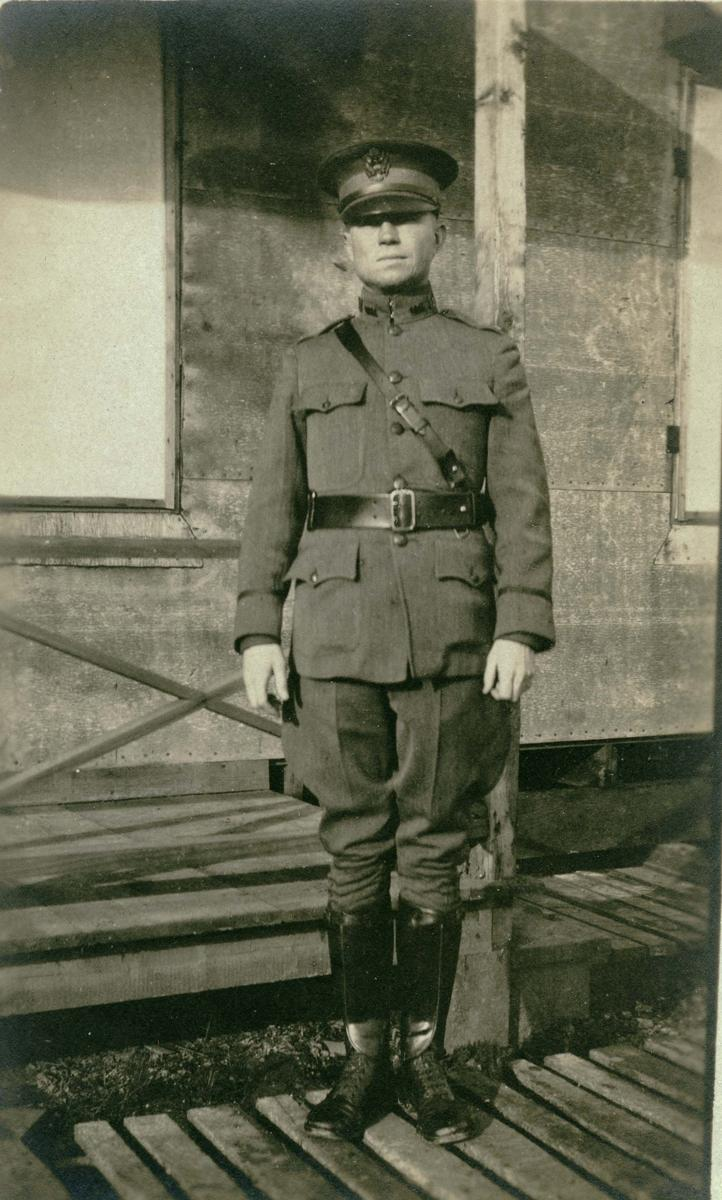 A soldier at Camp Bowie in 1917.