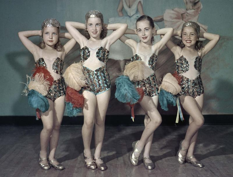 Dance school girls, 1949.