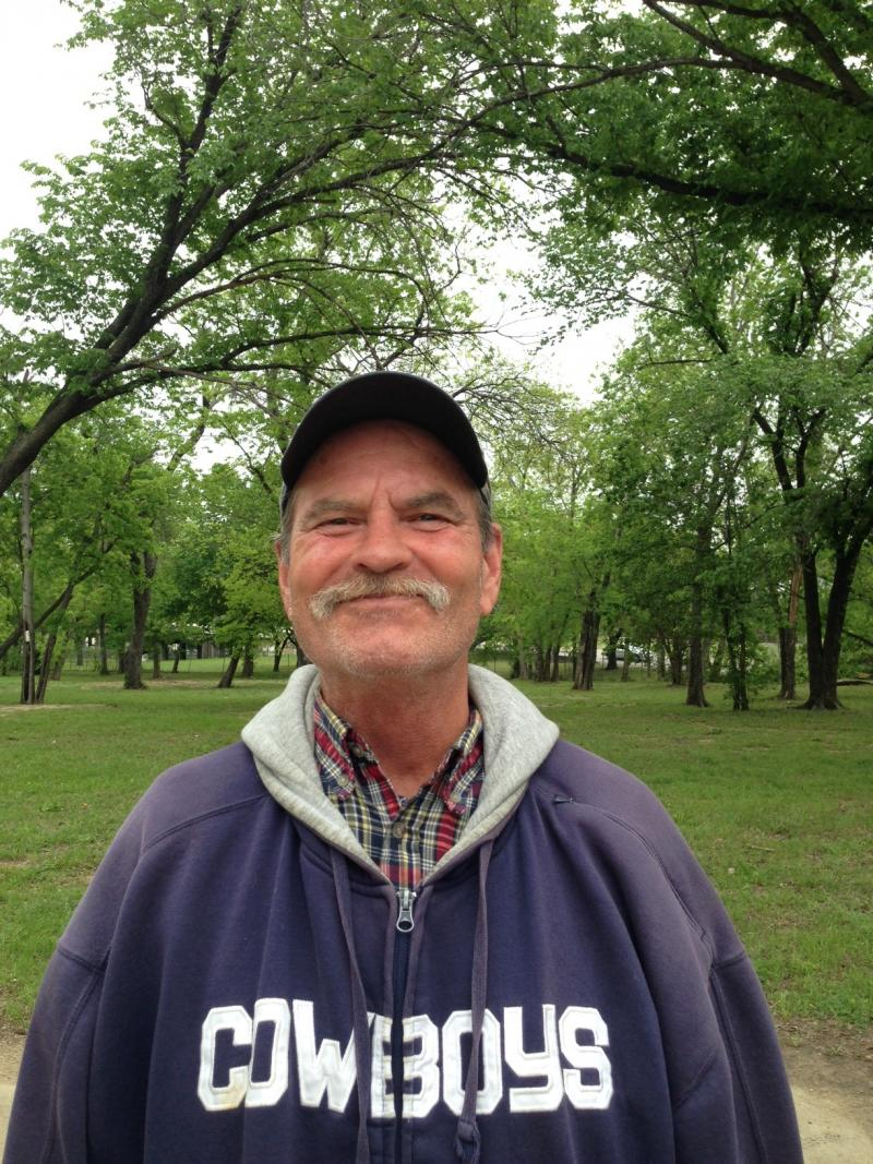 John Rhodes, 59, is homeless but recently found shelter at Austin Street Center in Dallas.