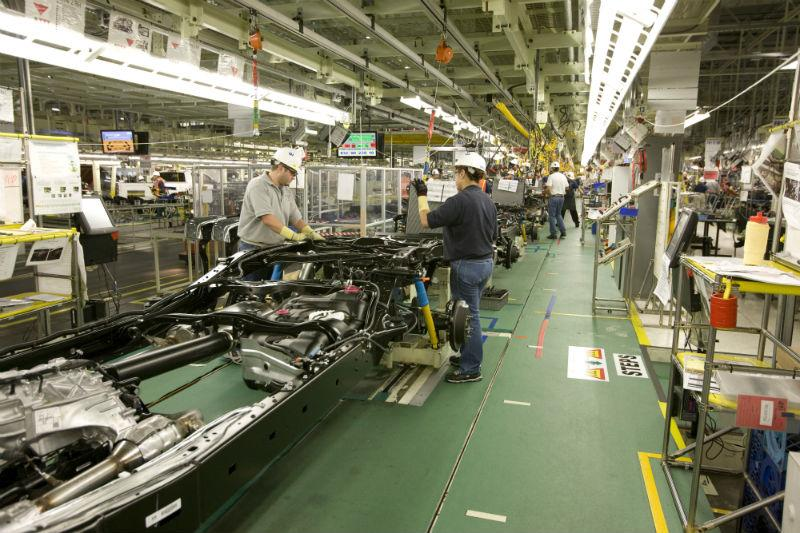 An assembly line at Toyota's San Antonio plant.
